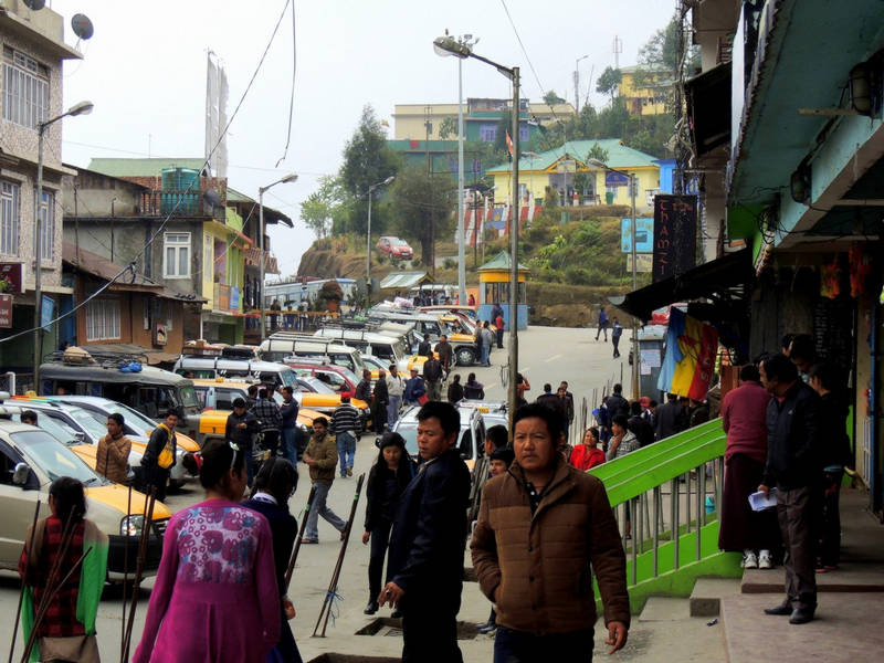 People at Ravangla Bazar-Ravangla-Sikkim